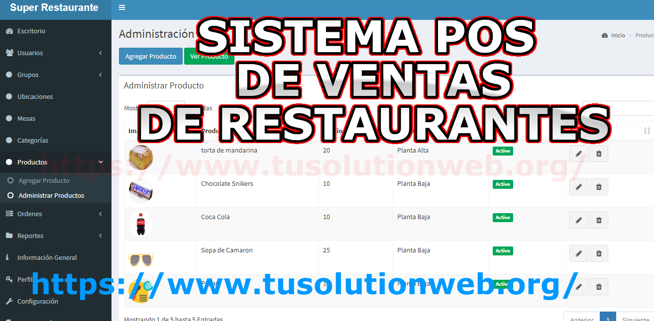 Project For Restaurant Management System Code Source Free