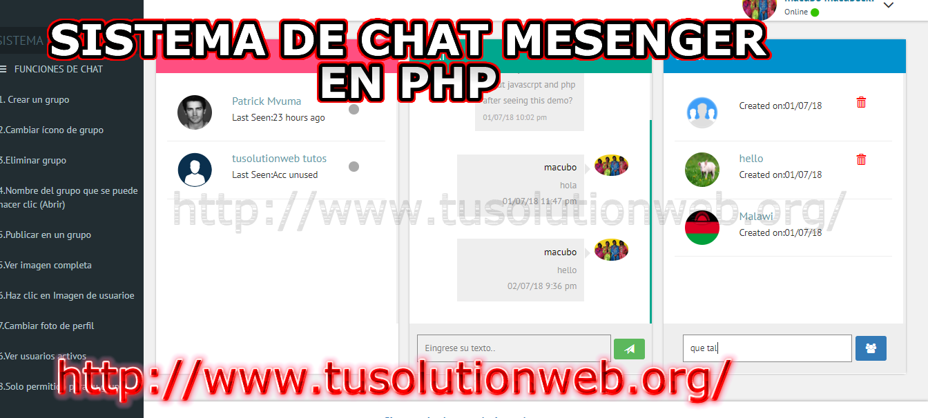 free chat php script download - code source free