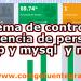 sistema de control de asistencia de personal en php y mysql  y nomina